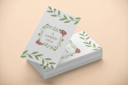 A Garden View Business Card